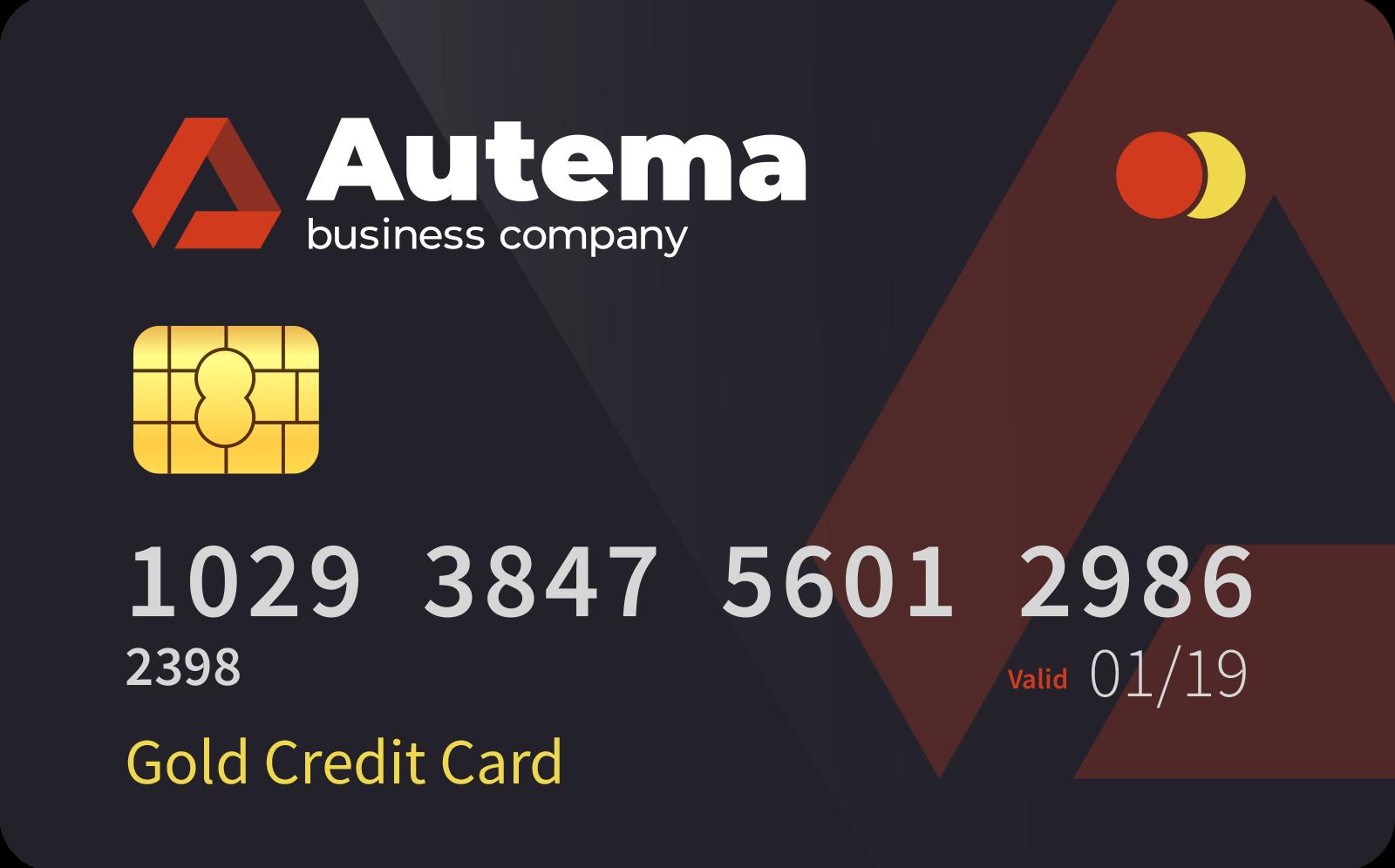 <span> Gold </span> credit card